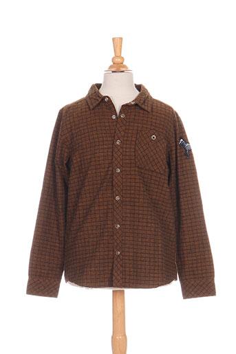 molo chemises garçon de couleur marron