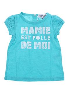 T-shirt manches courtes bleu BULLE DE BB pour fille
