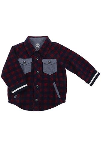 timberland chemises garçon de couleur rouge