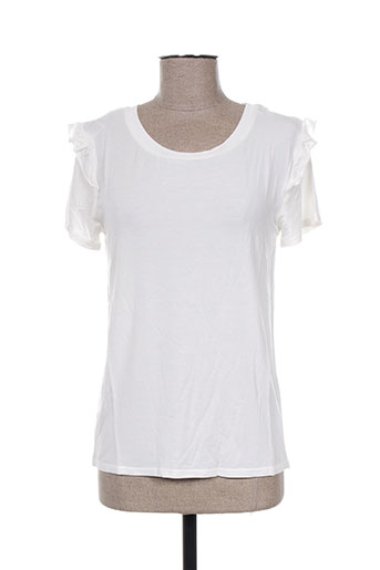 teddy smith t-shirts femme de couleur blanc