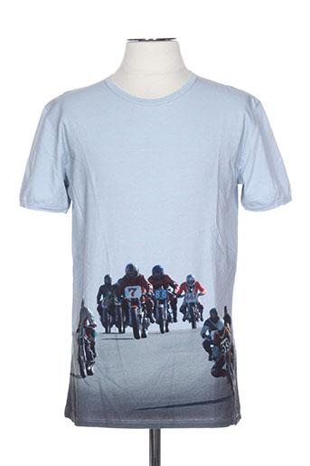 pull in t-shirts homme de couleur bleu