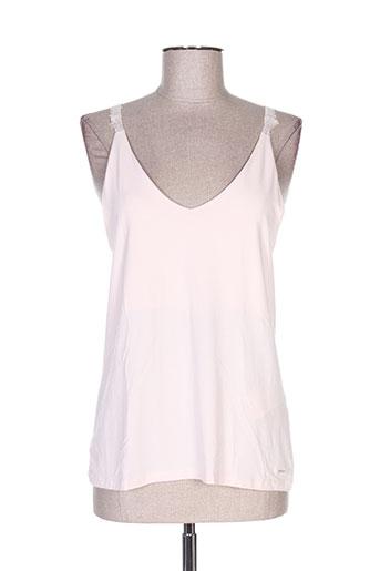 morgan t-shirts femme de couleur rose