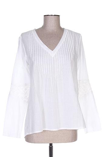 teddy smith tuniques femme de couleur blanc