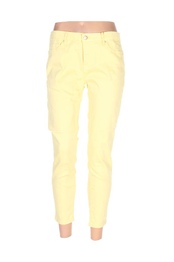 tiffosi pantalons femme de couleur jaune