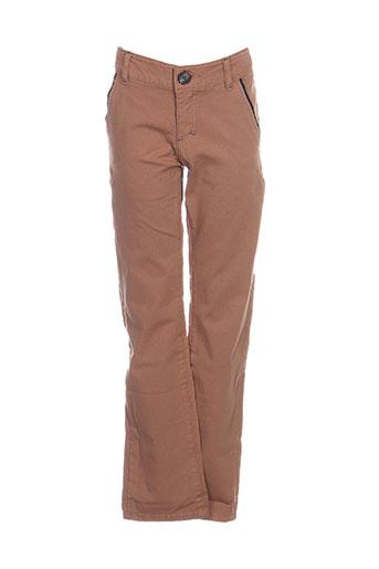 jean bourget pantalons garçon de couleur marron