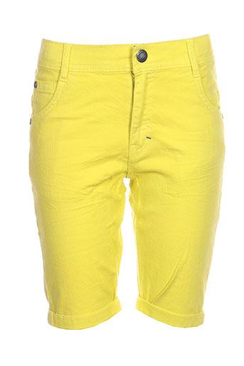 jean bourget shorts / bermudas garçon de couleur jaune