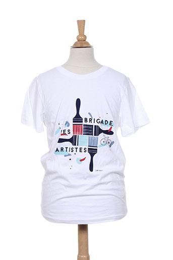 jean bourget t-shirts garçon de couleur blanc