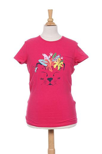 catimini t-shirts fille de couleur rose