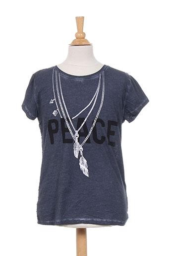 beckaro t-shirts fille de couleur bleu