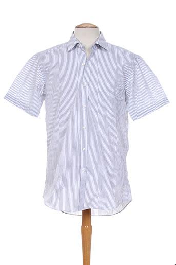 brook taverner chemises homme de couleur blanc