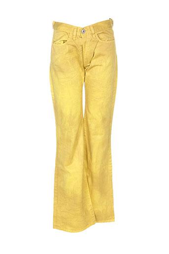 diesel pantalons femme de couleur jaune