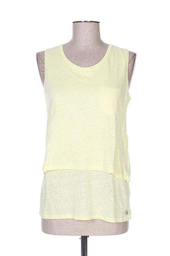 freeman t.porter t-shirts femme de couleur jaune