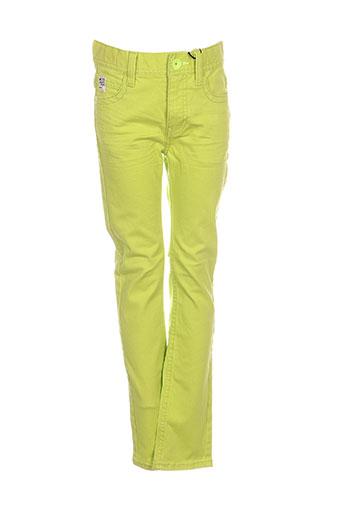 mexx pantalons garçon de couleur vert