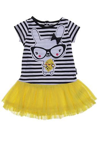 tuc tuc robes fille de couleur jaune