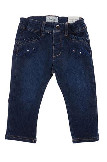mayoral pantalons fille de couleur bleu