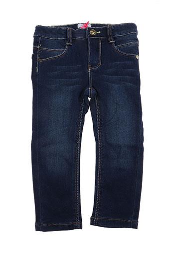 absorba pantalons fille de couleur bleu