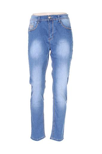 rose player jeans femme de couleur bleu