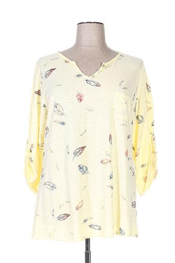 piment rouge t-shirts femme de couleur jaune
