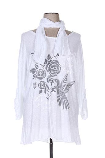 piment rouge t-shirts femme de couleur blanc