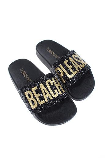 thewhitebrand chaussures fille de couleur noir
