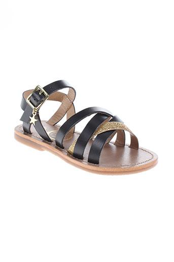 white sun chaussures fille de couleur noir