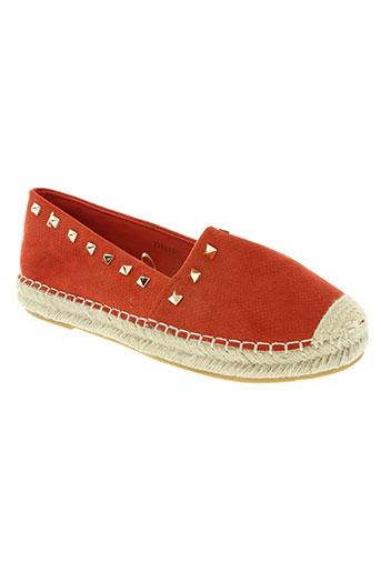 j&j shoes chaussures femme de couleur rouge
