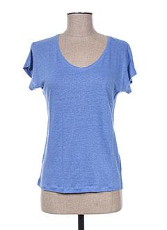 T-shirt manches courtes bleu GIORGIO BARBARA pour femme