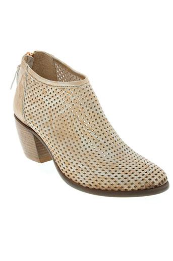little...la suite chaussures femme de couleur beige