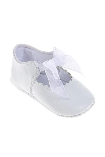 lili gaufrette chaussures fille de couleur blanc