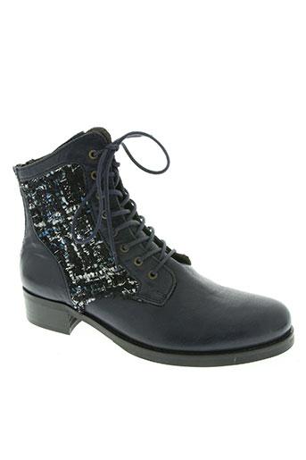 Bottines/Boots bleu AXELL pour femme