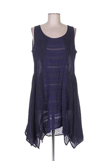 bohéme tuniques femme de couleur bleu