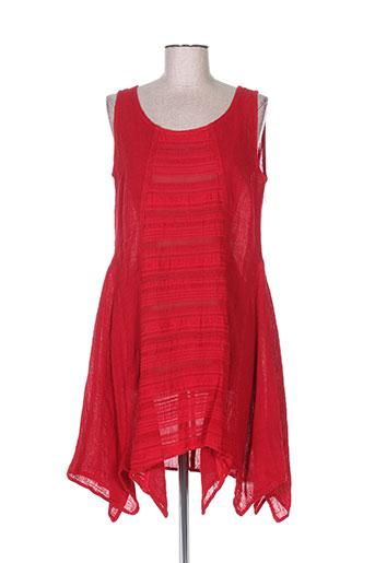 bohéme tuniques femme de couleur rouge