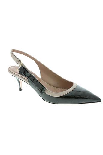red (v) chaussures femme de couleur noir