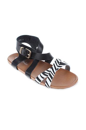 chochoula chaussures fille de couleur noir