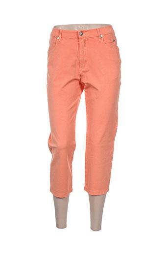 marble pantacourts femme de couleur orange