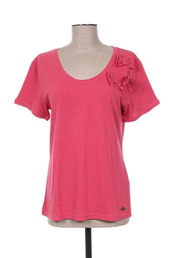 bleu salé t-shirts femme de couleur rose
