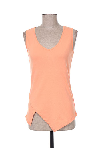 marble t-shirts femme de couleur orange