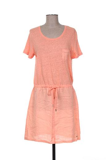 fleur de reve robes femme de couleur orange