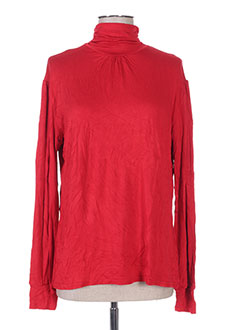 Sous-pull rouge CAPUCCINO pour femme