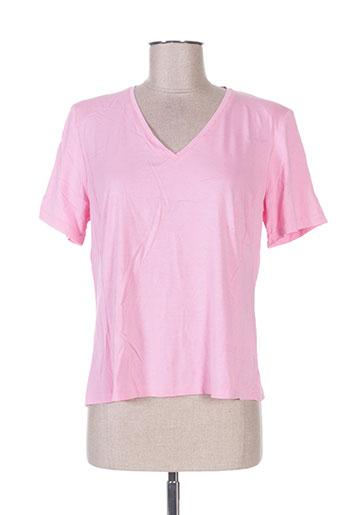 atian t-shirts femme de couleur rose