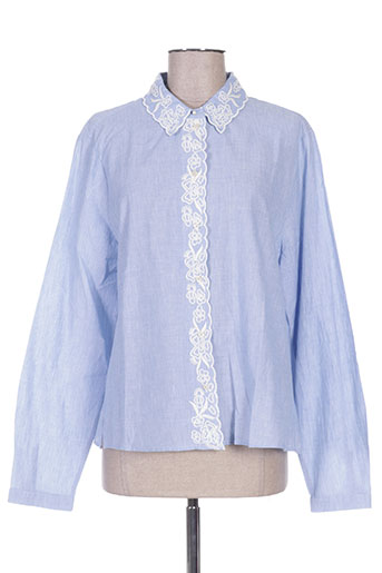 set chemises femme de couleur bleu