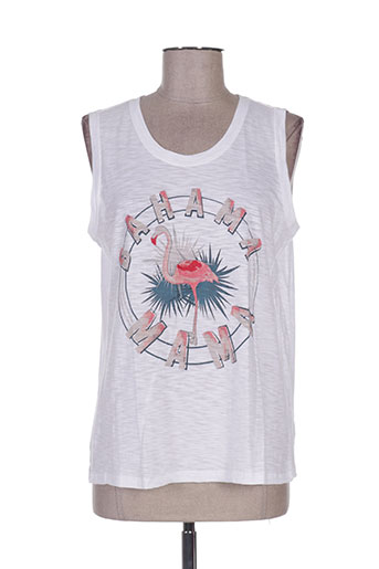 five t-shirts femme de couleur blanc