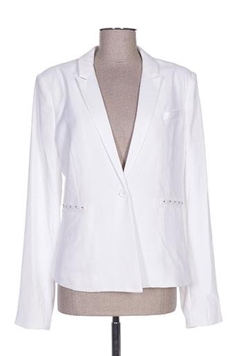 guess vestes femme de couleur blanc