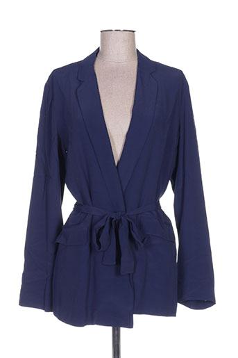 marie-sixtine vestes femme de couleur bleu
