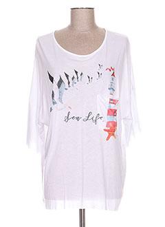 T-shirt manches courtes blanc CONCRETO pour femme