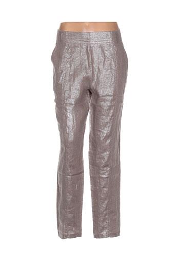 kokomarina pantalons femme de couleur marron