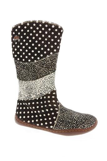 camper chaussures fille de couleur marron