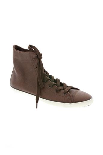 converse chaussures femme de couleur marron
