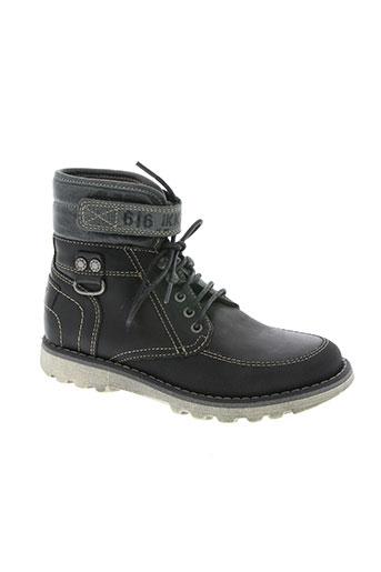 ikks chaussures garçon de couleur noir