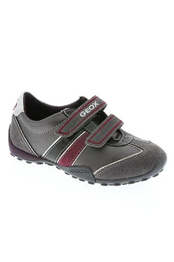 geox chaussures fille de couleur gris